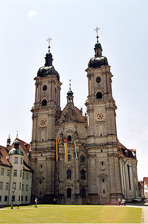Swiss folklore - The Abbey of St. Gall, founded on the site of his hermitage