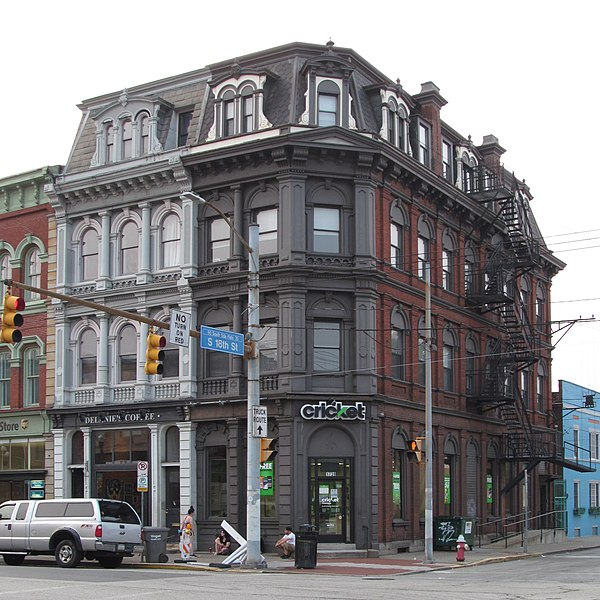 Second Empire storefronts on Carson Street