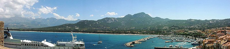 The Bay of Calvi: Corsica is the most mountainous Mediterranean island.