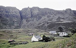 Cleadale, Eigg - Image: Cottages at Cleadale geograph.org.uk 838732