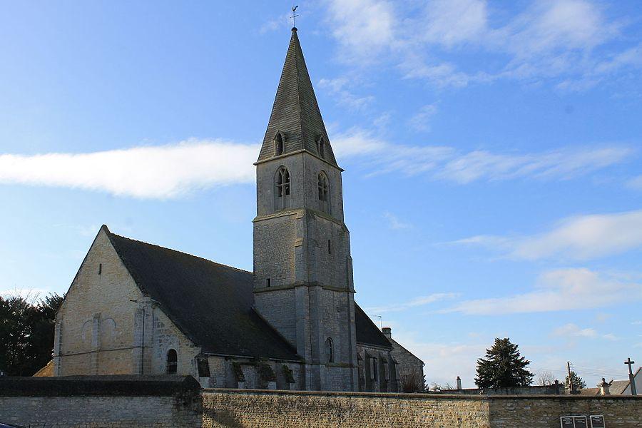 Eglise Saint Vigor à Coulombs (Calvados)