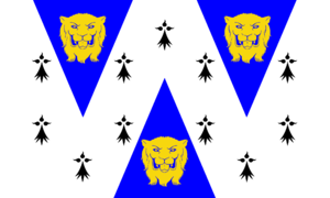 Flag of Shropshire - Variant banner of arms