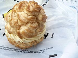 Pastry - Profiterole or cream puff, a choux pastry