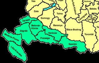 Horvát-Szlavónország vármegyéi a kiegyezés után