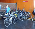 Crowded bike rack SI Ferry JFK jeh.jpg