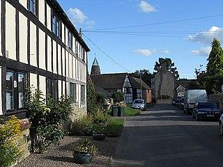 Culmington village in the United Kingdom