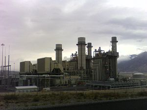 Fossil fuel power station - Currant Creek Power Plant near Mona, Utah is a natural gas fired electrical plant.