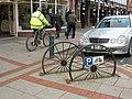 Cycle parking wheels - geograph.org.uk - 1073010.jpg
