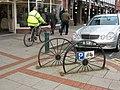 Cycle parking wheels - geograph.org.uk - 1073010.jpg