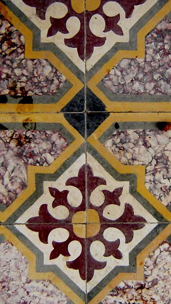 Floor tile in Karpas, northeastern Cyprus.