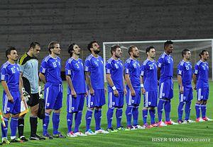 Cyprus national football team - 2012 Cyprus national football team in Bulgaria.