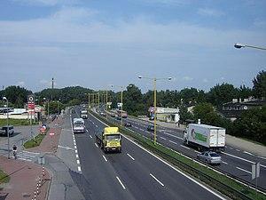 Droga krajowa nr 1 w cz�stochowskiej dzielnicy Ostatni Grosz