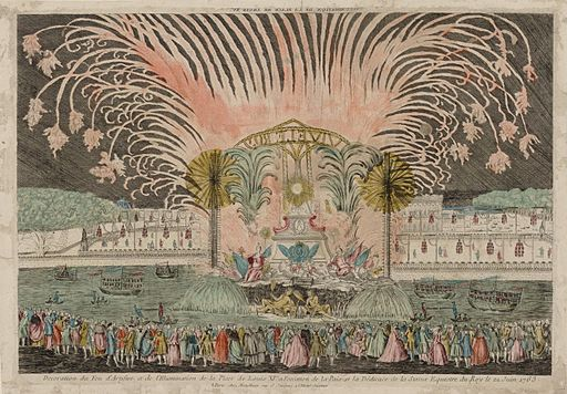 Décoration du feu d'artifice et de l'illumination de la place de Louis XV 1763