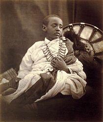 Déjatch Alámayou, King Theodore's Son, by Julia Margaret Cameron.jpg