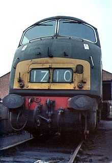 British Rail Class 43 (Warship Class) class of 33 B′B′ 2200hp diesel-hydraulic locomotives, all named after warships