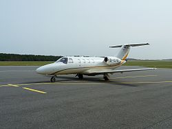 Citation CJ1+ Trainingsflugzeug in Heringsdorf