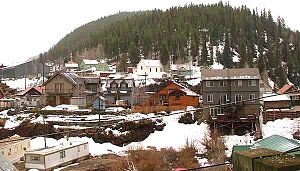 Red Cliff, Colorado - The town of Red Cliff, seen from across the Eagle River