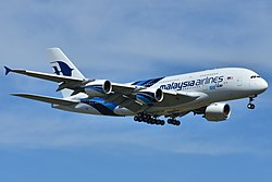Airbus A380-800 der Malaysia Airlines