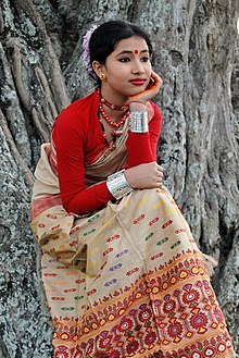 1b43482a8c642 An Assamese girl wearing mekhela sador, 2010