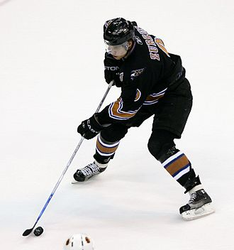 Washington Capitals - Dainius Zubrus had a career year with the Capitals during the 2005–06 season, recording 57 points.