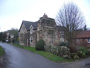 Dale Abbey - Remains of Dale Abbey as part of a house in the village