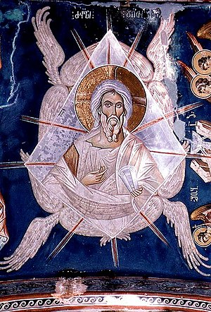 Damiane. The Ancient of Days. A fresco from Ub...