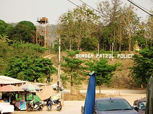 Singkhon Pass - Singkhon Pass Myanmar-Thailand border post. Border Patrol Police office.