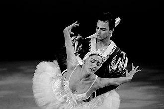 Daniel Sarabia - Photo taken by Alex Dufaur of Daniel Sarabia and Patricia Delgado in Swan Lake,  with Miami City Ballet Choreography of George Balanchine