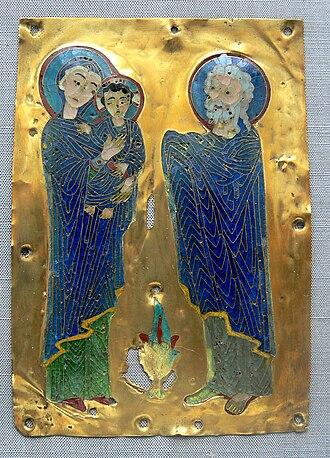 Byzantine enamel - Darbringung Christi enamel