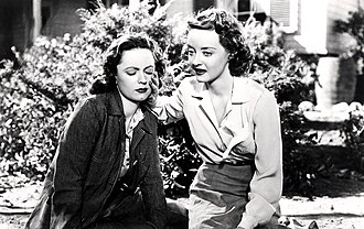 """Dark Victory - Geraldine Fitzgerald and Bette Davis, after """"Judy"""" has lost her sight, in final minutes of Dark Victory"""