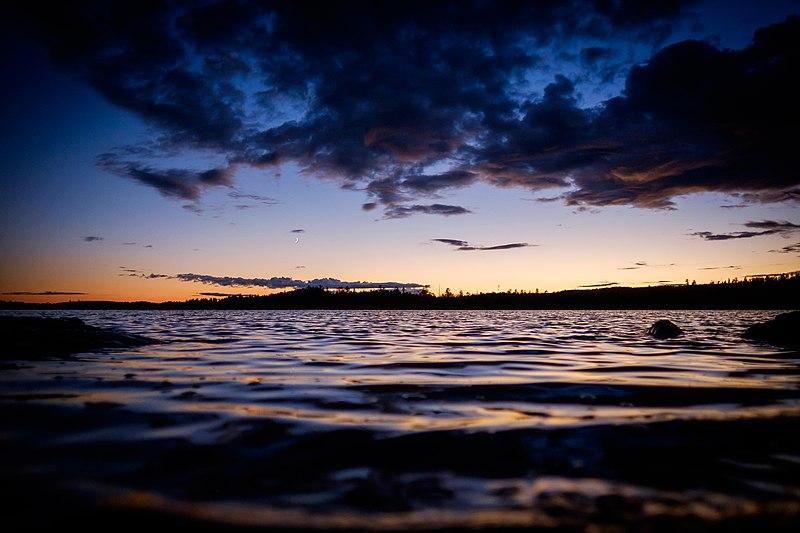 File:Dark sunset over Boundary Waters (Unsplash).jpg