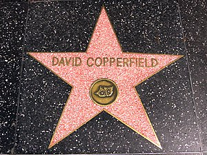 David Copperfield (illusionist) - David Copperfield's star on the Hollywood Walk of Fame.