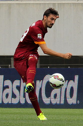 Davide Astori - Astori playing for Roma in August 2014.