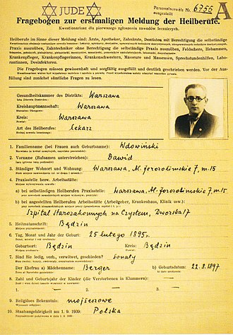 Jewish Military Union - Dawid Wdowiński