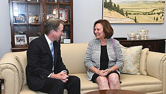 Fischer with Judge Brett Kavanaugh in July 2018 Deb Fischer and Brett Kavanaugh.jpg