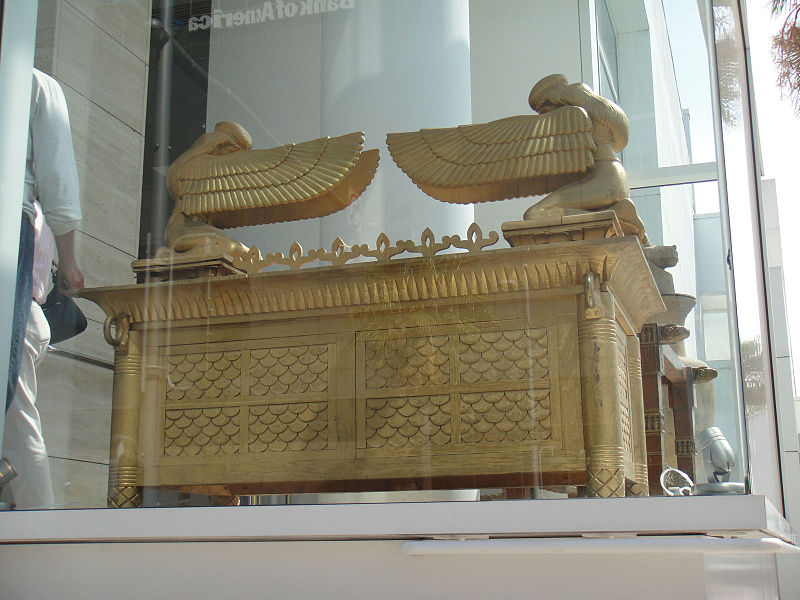"""File:Debbie Reynolds Auction - """"David and Bathseba"""" full-scale gilt-lacquered Ark of the Covenant (5851597607).jpg"""