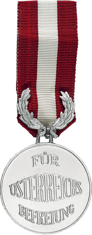 Decoration for Services to the Liberation of Austria - Image: Decoration for Services to the Liberation of Austria