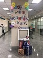 Decoration of Mother's Day on Column at Taipei Fubon Bank Minsheng Branch 20180510.jpg