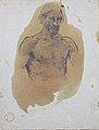 Dehodencq A. - Pencil - Buste et tête d'homme - 15,2x19,9cm.jpg
