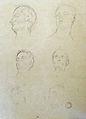 Dehodencq A. - Pencil - Etude de têtes (probablement d'après l'antique) - 23x26cm.jpg