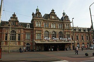 railway station in The Hague
