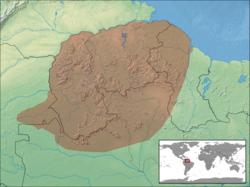 Dendrobates leucomelas distribution.png