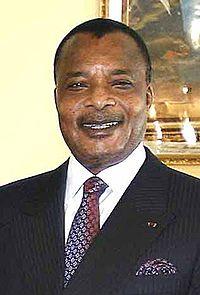 Denis Sassou-Nguesso, le 16 octobre 2007.