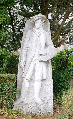 Melchior Wyrsch - Statue of Melchior Wyrsch in Buochs by Luc Breton