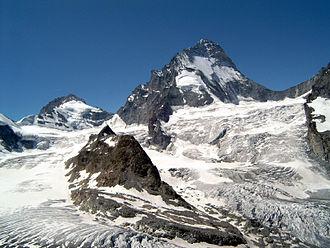 Zinal Glacier - Glacier de zinal and Dent Blanche