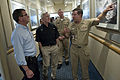 Deputy Secretary of Defense Ashton B. Carter, left, and Secretary of the Navy Ray Maybus, center, are given a tour of the Commander, Naval Air Forces headquarters by Vice Adm 120926-D-TT977-158.jpg