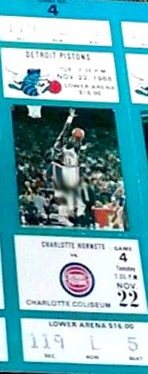 1988–89 Detroit Pistons season - A ticket for a November 1988 game between the Pistons and the Charlotte Hornets.