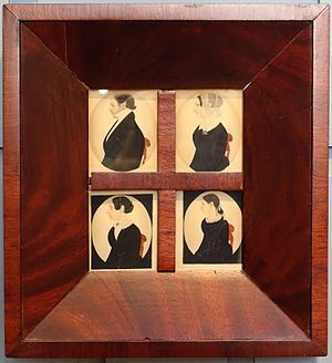 Justus DaLee - Dewey Family portraits, attributed to Justus DaLee and the DaLee family, c. 1840