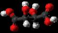 Dextro-Tartaric acid molecule ball from xtal.png