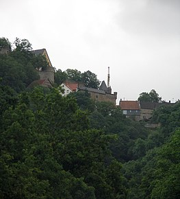 Schloss Dhaun, view from the Kellenbach valley